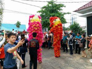 barongsai perayaan tahun baru imlek di singkawang