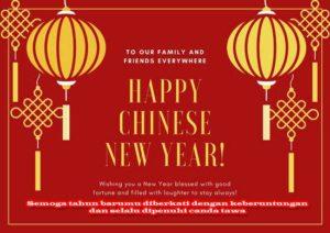 Semoga tahun barumu diberkati dengan keberuntungan dan selalu dipenuhi canda tawa