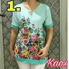 baju imlek wanita warna hijau kaos korea