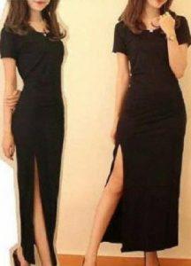 baju imlek wanita warna hitam dress slim 2018 shio ayam