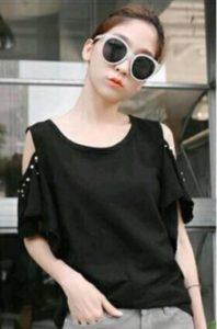 baju imlek wanita warna hitam fashion wanita shio ular