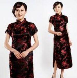 baju imlek wanita warna hitam merah 2018 SHIO BABI