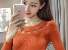 baju imlek wanita warna krem baju rajut 2018 shio ayam