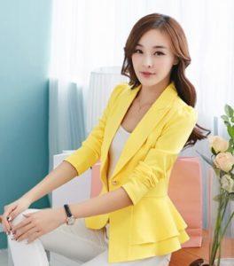 baju imlek wanita warna kuning motif korea terbaru SHIO ANJING
