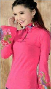 baju imlek wanita warna pink cheongsam atasan murah