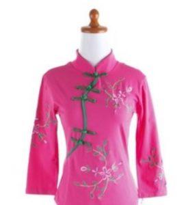baju imlek wanita warna pink cheongsam3 shio kuda