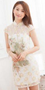 baju imlek wanita warna putih 2018 SHIO NAGA