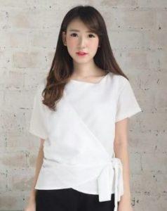 baju imlek wanita warna putih audrey