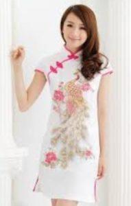 baju imlek wanita warna puting cheongsam 2018 SHIO BABI
