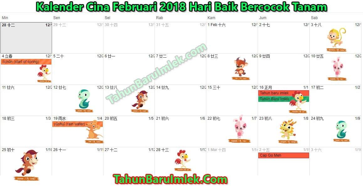 kalender 2018 hari baik bercocok tanam menurut feng shui. Black Bedroom Furniture Sets. Home Design Ideas