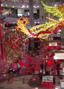 dekorasi imlek di mall indonesia malaysia singapura