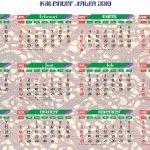 Kalender Jawa 2019 corak batik
