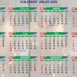 Kalender Jawa 2019 motif keris