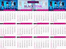 Template Kalender 2019 BLACK PINK5