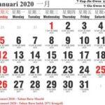 Kalender cina 2020 dan masehi lengkap hari libur nasional