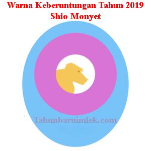 Warna shio monyet tahun 2019 fengshui pakaian kendaraan rumah Oranye Kekuningan Pink Anggrek Biru Maya