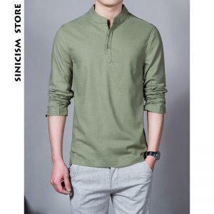 Baju imlek pria warna hijau