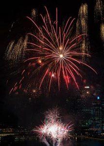 kembang api tahun baru imlek di singapura