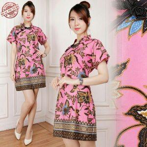 model baju imlek Batik Sincia Cheongsam pink fuchsia-shio tikus