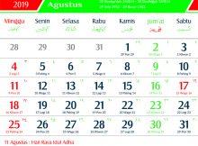 kalender 2019 jawa agustus