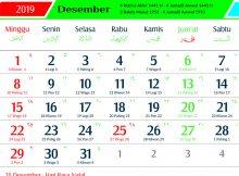 kalender 2019 jawa desember