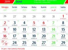 Kalender 2019 Juni Jawa