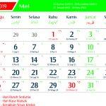 Kalender 2019 Mei Jawa lengkap Hari Pasaran dan Wuku Hari
