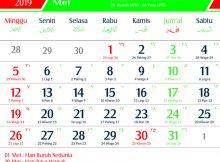 Kalender 2019 Mei Jawa