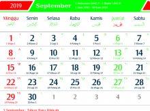 kalender 2019 jawa september