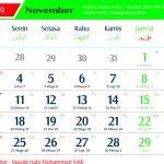 Kalender 2019 November Jawa lengkap Hari Pasaran dan Wuku Hari