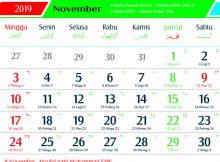 ,kalender 2019 jawa november