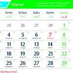 kalender 2019 maret Jawa lengkap Hari Pasaran dan Wuku Hari