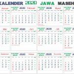 Kalender 2020 jawa lengkap bulan, Hari Pasaran dan Wuku Hari