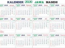 kalender 2020 jawa