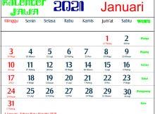 kalender 2021 jawa januari