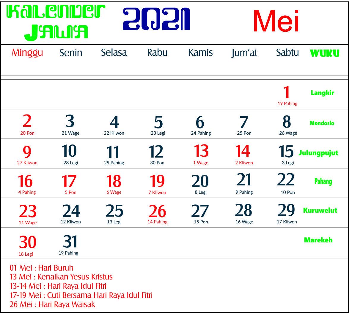 Raya Idul Fitri Kalender 2021 Lengkap - Crimealirik Page