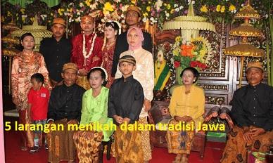 larangan menikah suku jawa