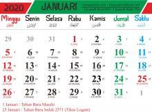kalender islam 2020 januari 1441h