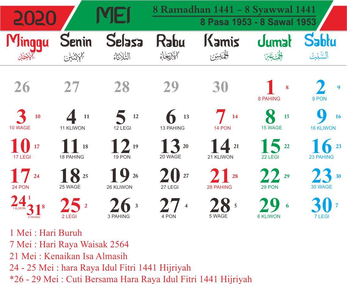 Kalender Islam 2020 1441h 1442h Hijriyah Lengkap 12 Bulan