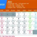 kalender jawa juli 2020