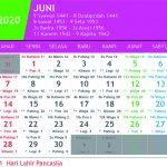 kalender jawa juni 2020
