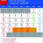 kalender jawa mei 2020