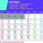 kalender jawa oktober 2020