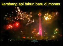kembang api tahun baru di monas