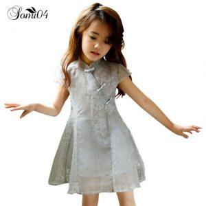 Baju imlek 2020 anak cewek warna abu-abu