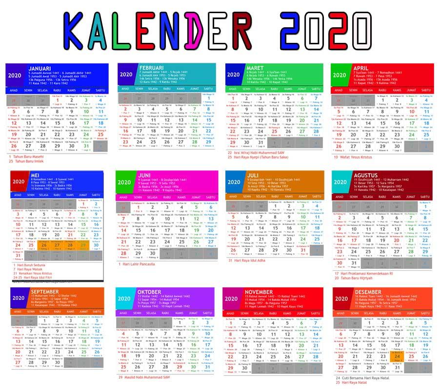 Kalender 2020 Indonesia Lengkap Dengan Hari Libur Nasional