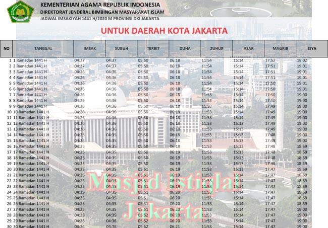 jadwal imsakiyah dki jakarta-kota jakarta 2020 1441h