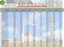 jadwal imsakiyah kalimantan barat-kota pontianak 2020 1441h