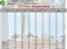 jadwal imsakiyah kalimantan selatan-kota banjarmasin 2020 1441h
