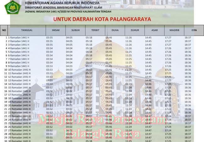 Jadwal Imsakiyah dan Sholat Kota Palangkaraya Ramadhan ...